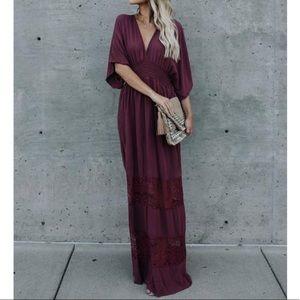 Find Me in the Field Kimono Maxi Dress